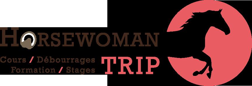 Horsewoman trip